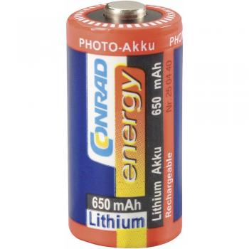 Litijev foto akumulator CR 123, RCR123, 3 V 650 mAh