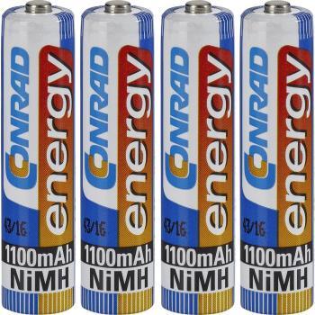 Micro (AAA) akumulator NiMH Conrad energy HR03 1100 mAh 1.2 V 4 kosi