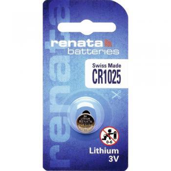Gumbna baterija CR 1025 litijeva Renata CR1025 30 mAh 3 V, 1 kos