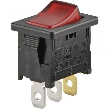 SCI Klecno stikalo, R13-66B-02 rdeča LED 12V/DC 1-polni vklop/izklop zaskočno