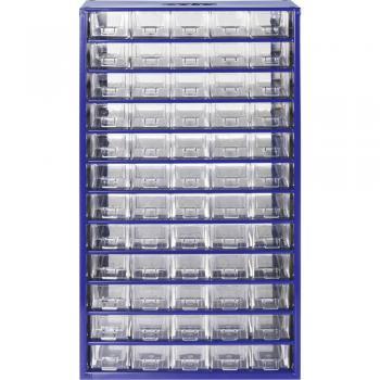 Sortirni predalnik za delavnico (D x Š x V) 306 x 155 x 551 mm št. predalov: 60 fiksna pregraditev