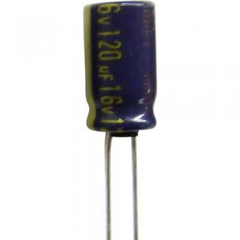 Elektrolitski kondenzator, radialno ožičen 2.5 mm 100 µF 10 V/DC 20 % (premer x V) 5 mm x 11 mm Panasonic EEUFC1A101SH 1 k