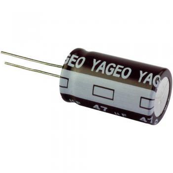 ELEKTROL. KONDENZATOR RAD. 105stopinj C 4,7uF 100V 5X11 RM2,5 Yageo SE100M4R70AZF-0511