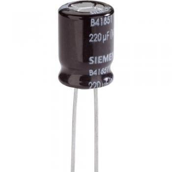 Elektrolitski kondenzator Snap-In 5 mm 220 µF 20 % (premer x D) 12.5 mm x 25 mm Epcos B41851-A9227-M 1 kos