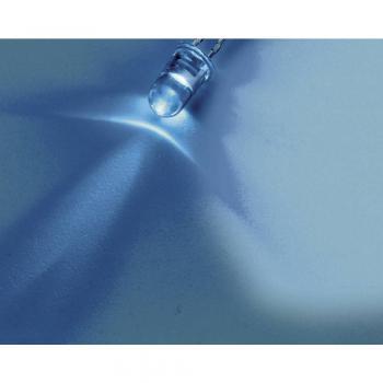 Ožičena LED dioda, modra, okrogla 3 mm 8200 mcd 15 ° 20 mA 3.2 V Nichia NSPB300B