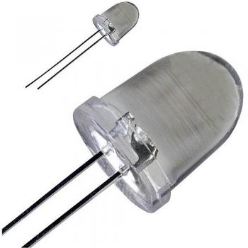 Ožičena LED dioda, bela, okrogla 10 mm 40000 mcd 20 ° 30 mA 3.6 V LED-10-40.000W
