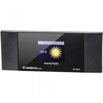 Spletni radio z adapterjem DLNA Albrecht DR 460 C, črne barve 27462