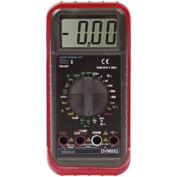 ročni multimeter digitalni Velleman MULTIM NUMERIQUE LCD3 1/2-24 GAMMES/10A CAT II 600 V Prikaz (štetje): 2000