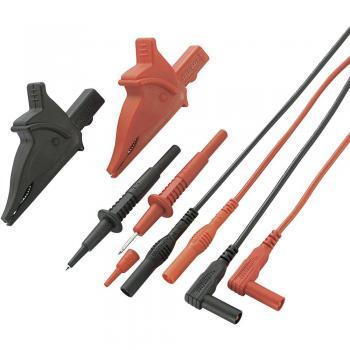 Komplet varnostnih merilnih kablov, 1.20 m črna, rdeča,  VOLTCRAFT MS-5