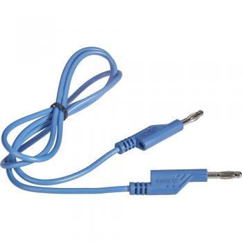 Merilni kabel [lamelni vtič 4 mm - lamelni vtič 4 mm] 1 m modre barve VOLTCRAFT