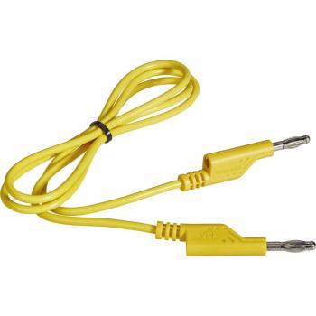 Merilni kabel [lamelni vtič 4 mm - lamelni vtič 4 mm] 1 m rumene barve VOLTCRAFT