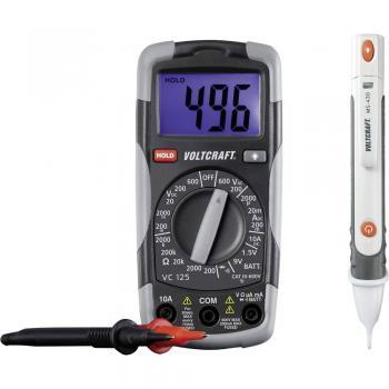Ročni multimeter, digitalni VOLTCRAFT DT-TEST-KIT 150 kalibracija narejena po: delovnih standardih, CAT III 600 V število znakov
