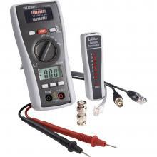 VOLTCRAFT CT-3 DMM Multimeter s testerjem za kable, primeren za BNC, RJ11 in RJ45
