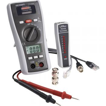 VOLTCRAFT CT-3 DMM Multimeter s testerjem za kable, primeren za BNC, RJ11 in RJ45