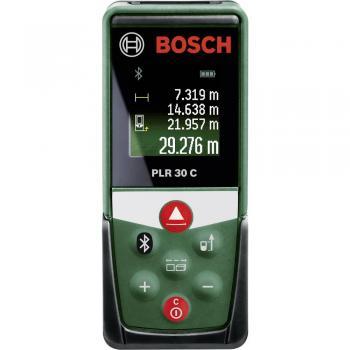 Laserski merilnik razdalj Bosch PLR 30 C, merilno območje do 30 m