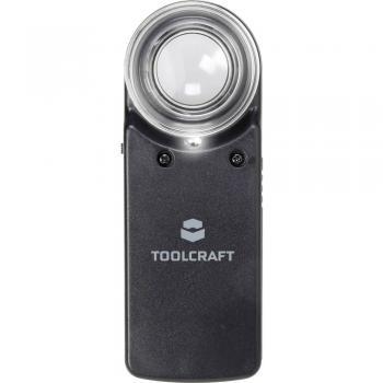 Ročno povečevalno steklo, z LED osvetlitvijo faktor povečave: 15 x velikost leče: (premer) 20 mm TOOLCRAFT