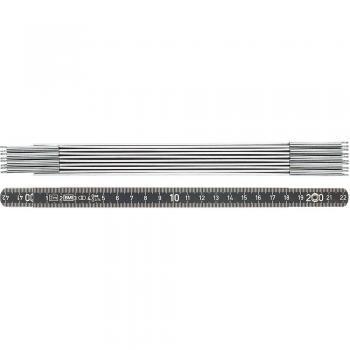 Zložljivo ravnilo 2 m iz kovine BMI 961200044 S