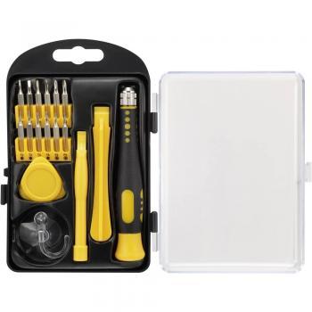 Komplet orodja za popravilo pametnih telefonov 17-delni Basetech 1497676