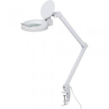 LED svetilka z lupo 5, s prijemalnim držalom TOOLCRAFT 1526044 delovni radij: 127 mm