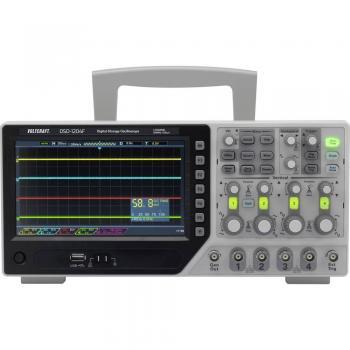 Digitalni osciloskop VOLTCRAFT DSO-1204F 200 MHz 4-kanalni 1 GSa/s 64 kpts 8 bit digitalni pomnilnik (DSO), funkcijski generator