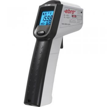 Infrardeči termometer ebro TFI 260 Optični termometer 12:1 -60 do +550 °C Kalibrirano: Tovarniški standardi (s certifikatom)