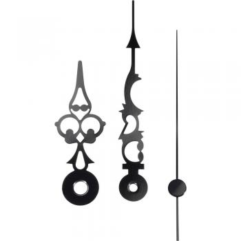 Komplet kazalcev Antik, aluminij, črne barve, 51 x 76 x 70 mm, okrogli 195028