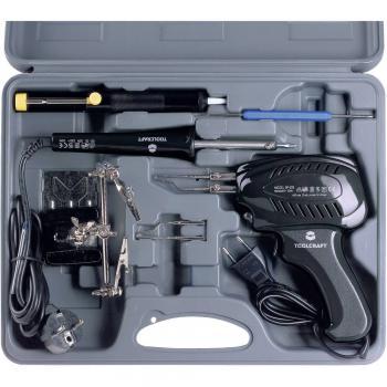 Spajkalnik-komplet, 230 V 100 W TOOLCRAFT SK 3000 s ponikljano spajkalno konico, vklj. spajkalno pištolo, vklj. z odlagalnikom