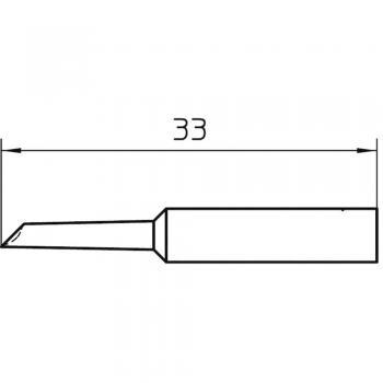 Spajkalna konica, prirezana Weller XNT GW dolžina konice 33 mm vsebuje 1 kos