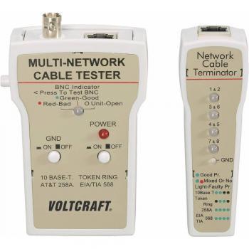 VOLTCRAFT® CT-1 tester za kable, tester kablov BNC, RJ-45