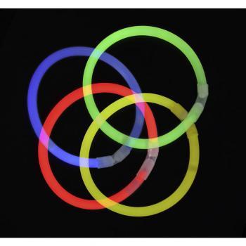 Pregibne fluorescentne svetlobne palice, 100-delni komplet v 7 barvah