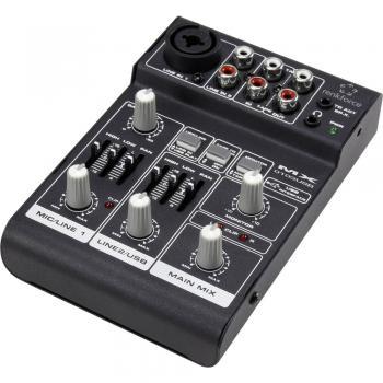Konzolna mešalna miza Renkforce MX 103USB število kanalov: 2, USB-priklop