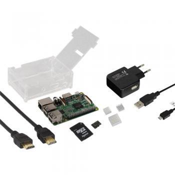 """Raspberry Pi® 3 Model B začetni komplet 1 GB Linux, Noobs vklj operacijski sistem """"Noobs"""", vklj.ohišje, programsko opremo,na"""