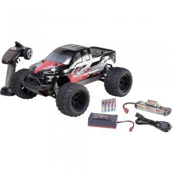 Reely NEW1 krtačni 1:10 RC model avtomobila na daljinsko vodenje, Monstertruck, pogon na vsa kolesa, 100% RtR, 2,4 GHz vklj. aku
