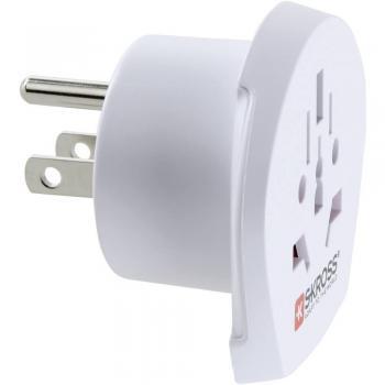 Potovalni adapter Skross 1.500221 World na ZDA, bele barve