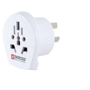 Potovalni adapter Skross 1.500222 World na Avstralijo, bele barve