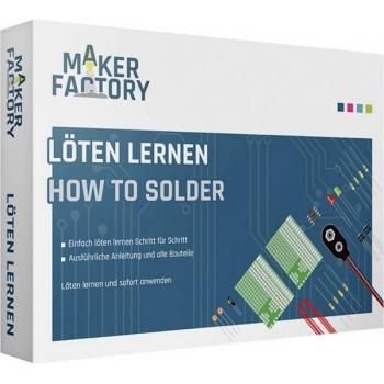 MAKERFACTORY 15055 Löten lernen spajkanje paket za učenje od 14 leta dalje