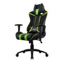 AeroCool Gaming stol AC120 AIR črn/zelen