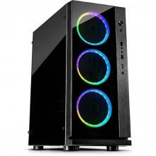 Midi Inter-Tech W-III RGB Tower black RGB + daljinec